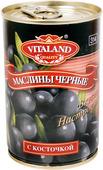 Vitaland Маслины чёрные с косточкой