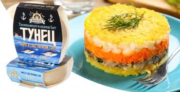 Schichtsalat ''Mimosa'' mit Thunfisch